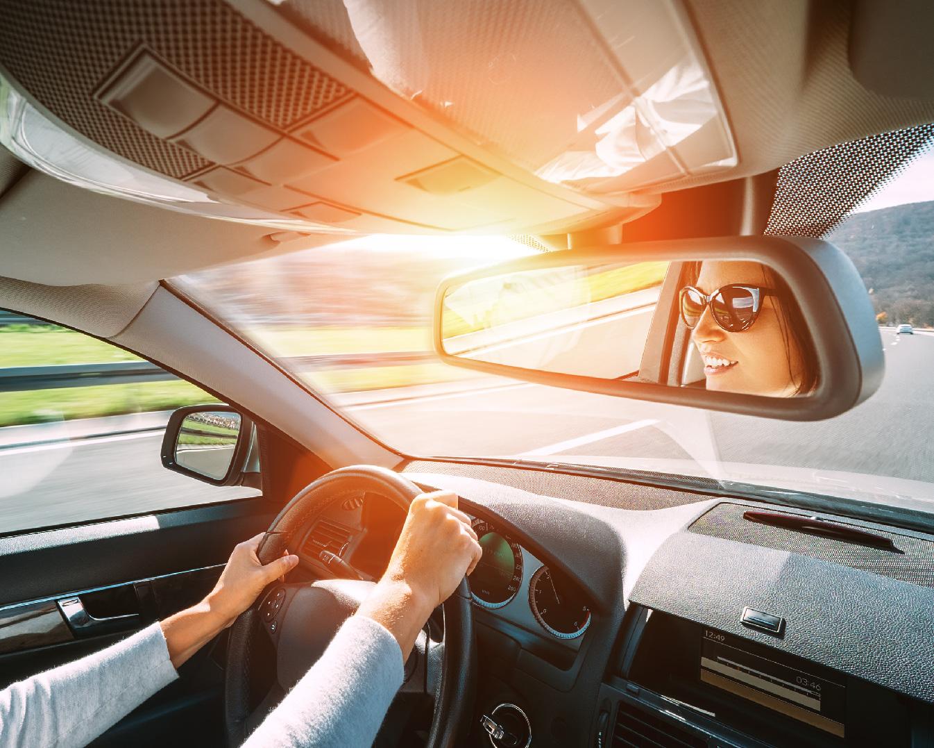 車内の環境光センサー検証試験